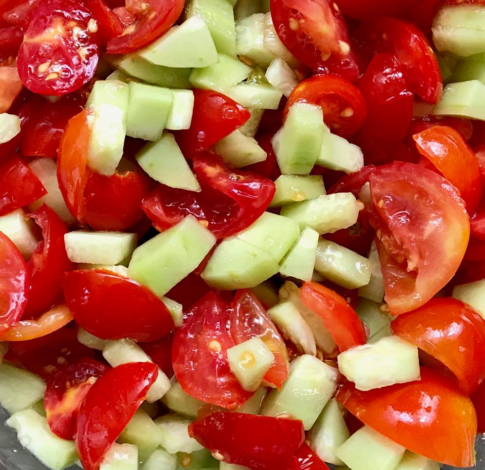 Armenian cucumber salad